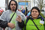 Our Walmart Ismael Nunez and wife protest in November Black Friday
