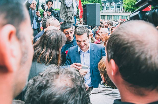 Supporters rally with Syriza leader Alexis Tsipras in May, 2014. (Photo: Mirko Isaia)