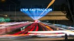 Stop Fast Track light brigade in San Diego, November 2014. Rolling Rebellion for Real Democracy