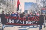 Wisconsin protesters march around capitol in right to work protest by Jenna Pope