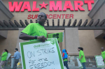 Photo: Workers strike at the Pico Rivera Walmart, October 2012.