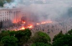 The Trade Union building of Odessa in flames (ITAR-TASS)