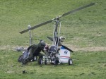 Your Mailman leaves gyrocopter after landing on Capitol Hill lawn