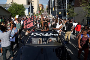 Baltimore Justice for Freddy march.