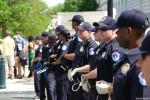 Capitol Hill Police lined up read to make arrests