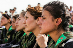 YPJ fighters in Kobani, December 8, 2014 (Biji Kurdistan / Flickr)
