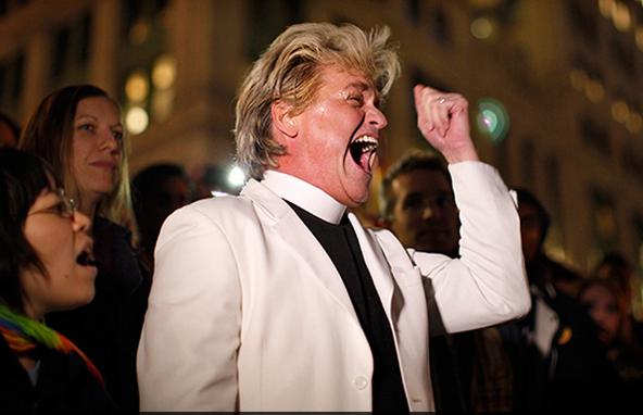 Reverend Billy of the Reverend Billy & The Stop Shopping Choir. (Reuters / Eduardo Munoz)