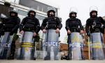 Police, riot control, brutality, militarism