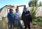 From left to right: Nancy Millar, Blanca Molina and Patricia Mancilla on Molina's small farm near the town of Valle Simpson in the southern Chilean region of Aysén. The three women belong to the only rural women's association in the Patagonia wilderness, which has empowered them and helped them gain economic autonomy. Credit: Marianela Jarroud/IPS