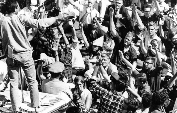 Today's protests bring about memories of student activism in the 60s. Photo by AP
