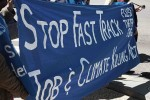 Stop Fast Track protest 4-16-15