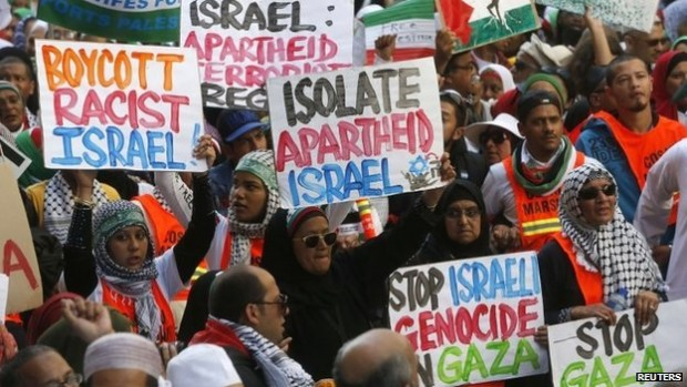 Israel South Africa protest calling for BDS