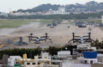 Okinawans staged a protest against the planned relocation of U.S. Marine Corps Air Station Futenma and advocated for it to be closed instead. Okinawan Gov. Takeshi Onaga will press that case on a visit to Washington. (Hitoshi Maeshiro/European Pressphoto Agency)