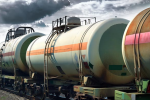 There are no existing rail cars that could truly be considered safe for shipping crude oil. (Image: Oil by rail via Shutterstock)