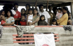 Sri Lankan migrants bound for Australia are detained in Indonesian waters [AP]