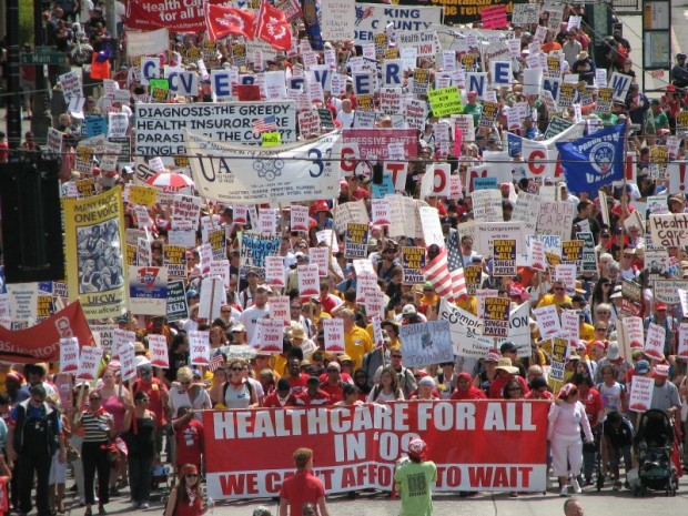 Healthcare for All march 2