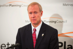 """Bruce Rauner is """"bringing the hammer"""" to working families, not Springfield. (Metropolitan Planning Council/flickr)"""