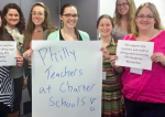 In a good sign for teacher union drives around the country, a Labor Board hearing officer opted to include Teach for America teachers in the union vote at a Detroit charter school chain. Charter teachers in other cities sent messages of solidarity.   Photo: Michigan Alliance of Charter Teachers and Staff (AFT).