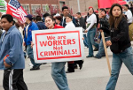 "Photo: ""We are workers, not criminals"" was a theme at the Chicago May 1, 2006, immigrant and labor rights march. (swanksalot/CC/Flickr)"