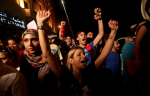 "Lebanese protesters chant slogans during a demonstration, in support of the ""You Stink"" campaign in Beirut. (Agence France-Presse)"