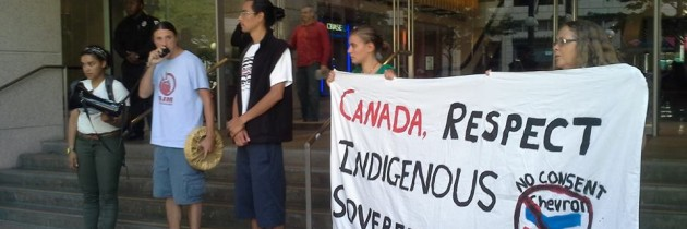 Solidarity protest with First Nations