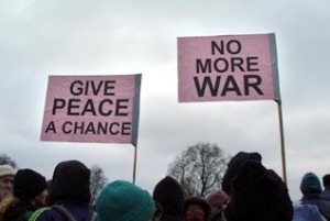 Give peace a chance no more war