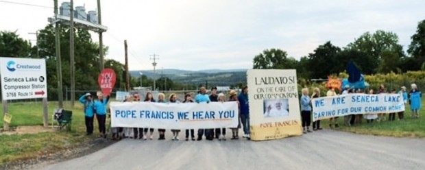 Seneca Lake Protest Pope Francis We Hear You