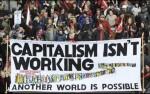A banner reading 'Capitalism isn't working' at the Occupy London Stock Exchange protest. Photograph: Oli Scarff/Getty Images