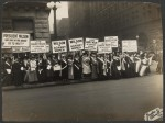 Women suffragete's protest Wilson
