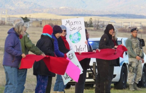 Beale Air Force Base drone protest December 14, 2015