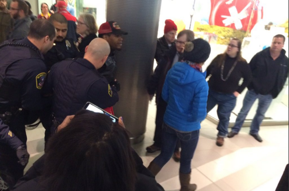Mall of America protest, first person taken by police, Cody Nelson tweet