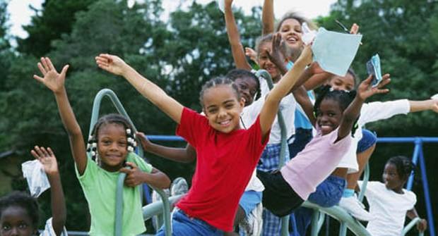 Black children playing