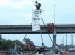 Delta 5 blockade's oild train in Wasington State