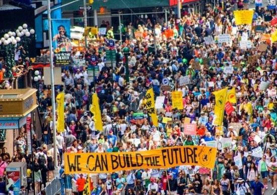 From the Peoples Climate March in New York City, September 2014