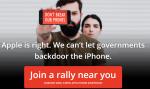 Apple protest against FBI backdoor