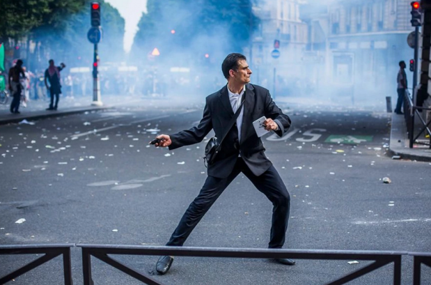Protests: a French way of life? Photograph: Laurent Troude/Libération