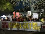 Fight for 15 at Miami Republican debate.
