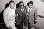 Joe Louis and Neil Scott help Isaac Woodard up a set a stairs soon after a beating left him blind. Ossie Leviness/New York Daily News
