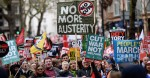Anti-austerity demonstration in central London on April 16, 2016. Photograph by Stefan Rousseau for PA