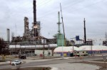 The neighborhood around the Marathon heavy oil refinery in Detroit is Michigan's most polluted ZIP code. Environmental and climate justice activists said they couldn't wait for the city to come out of bankruptcy and launch its own climate action plan, so they have started their own. Credit: Wikimedia
