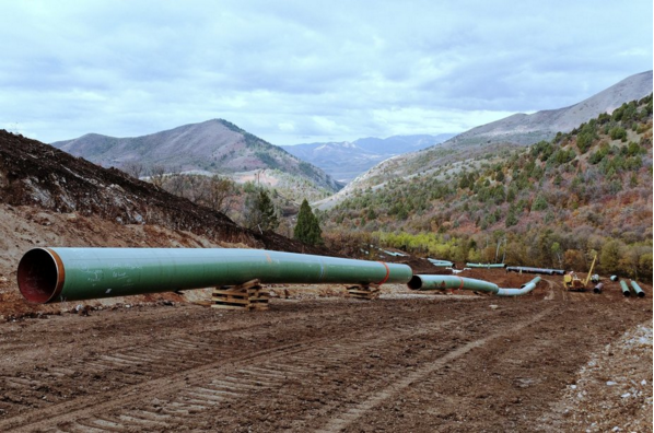 Kinder Morgan operates approximately 84,000 miles of pipelines in North America, including the Ruby pipeline seen here in Utah. The company has suspended construction of its Palmetto pipeline, after state legislators and landowners in Georgia vigorously protested the project over eminent domain concerns. Credit: Kinder Morgan