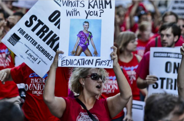 An image from the previous Chicago teachers' strike, September 10, 2012. Photo by Tannen Maury/EPA
