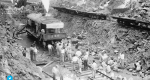 Steam shovel trains excavate the channel of the Panama Canal in 1913. The US had effected Panama's independence to ensure access to the Canal. Photograph: Alamy