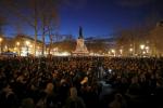 """Supporters of social media-driven movement """"Nuit Debout"""" (Up All Night), gather on the Place de la Republique in Paris, France, against a French labour law proposal, April 11, 2016. REUTERS/Benoit Tessier BENOIT TESSIER / REUTERS"""