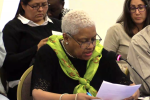 Maureen Taylor of the Michigan Welfare Rights Organization from Detroit, Michigan (Photo from OAS livestream of the water and sanitation hearing)