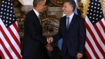 U.S. President Barack Obama meets with Argentina President Mauricio Macri during his March 2016 visit.   Photo: EFE