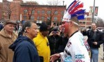 TWITTER/@KELLORAGS Some have posted photos showing their disdain for how Native American symbols are used by US sports
