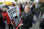 BlackRock protest Aimee Tebay, pictured at the Nurses protest at Bord Altranais at Blackrock.