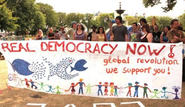 Democracy Real Democracy Now Banner 2