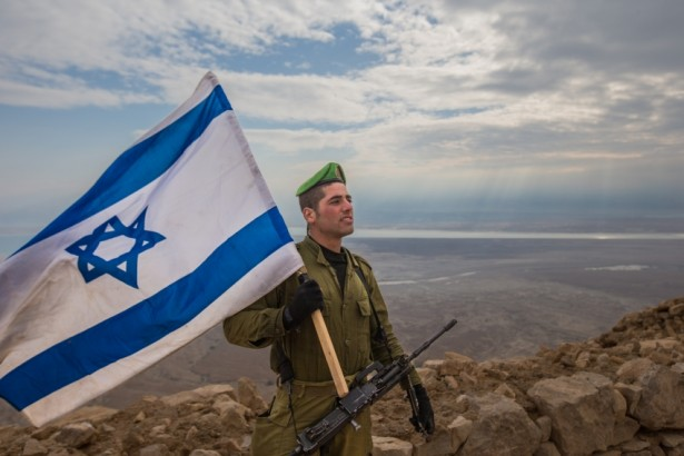 An Israeli Defense Forces soldier at Masada in February 2015. (Israel Defense Forces / Evan Lang & Adi James Brown / Flickr)